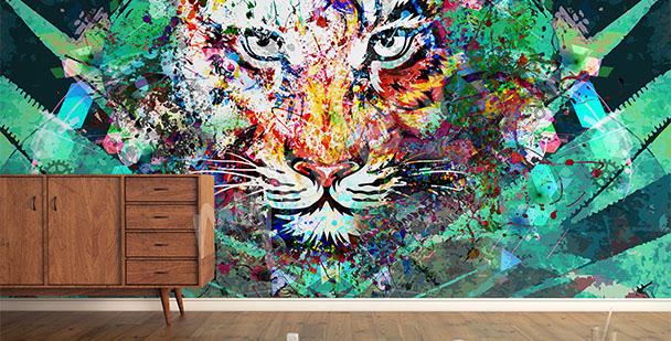 Fototapeta tygrysia abstrakcja