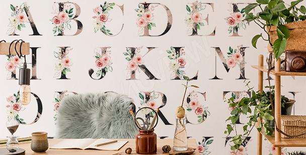 Fototapeta typograficzna w stylu scandi