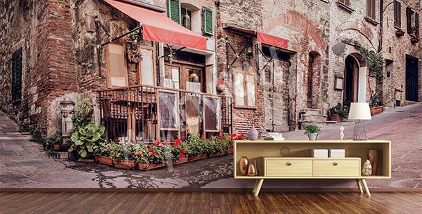 Fototapeta uliczka w Toskanii