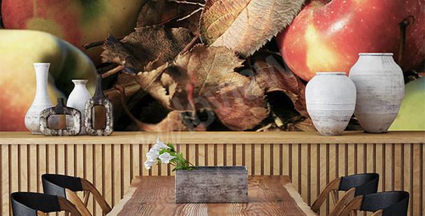 Fototapeta w restauracji jabłka