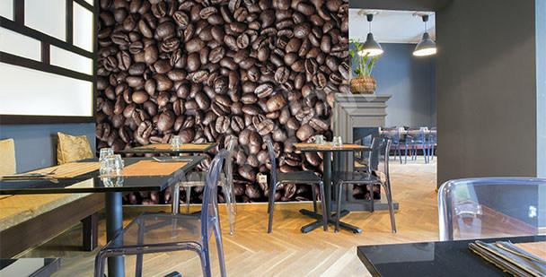 Fototapeta w restauracji kawa