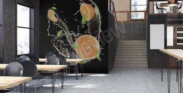 Fototapeta w restauracji owoce