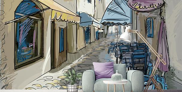 Fototapeta w stylu street cafe