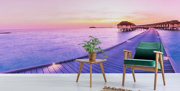 Fototapeta wieczór na Malediwach