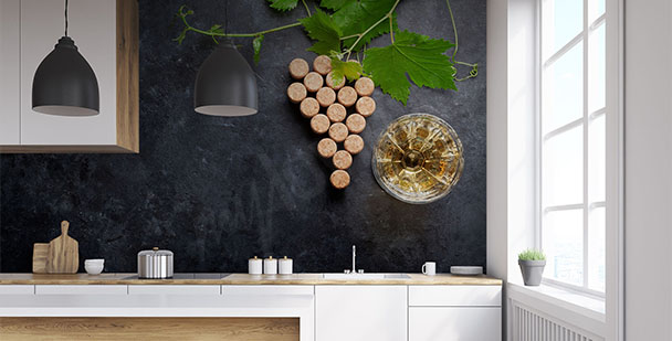 Fototapeta wino do kuchni