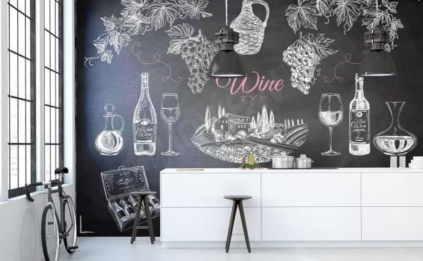 Fototapeta wino i napisy