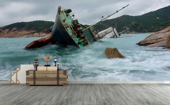 Fototapeta wrak statku