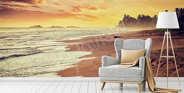 Fototapeta wschód słońca - ocean