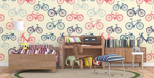 Fototapeta wzór w rowery