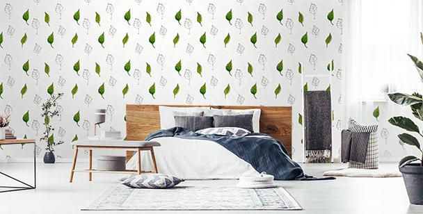 Fototapeta wzór z liśćmi