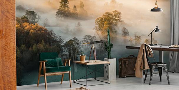 Fototapeta z jesienną mgłą