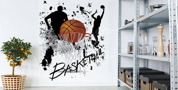 Fototapeta z koszykarzami