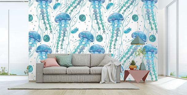 Fototapeta z meduzami