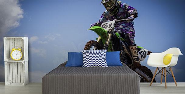 Fototapeta z motocyklistą