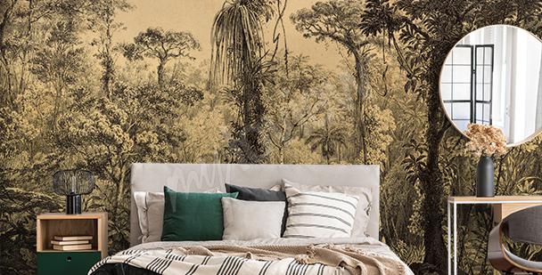 Fototapeta dżungla do sypialni