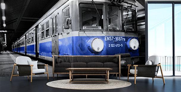 Fototapeta z pociągiem 3D