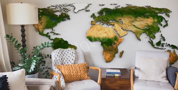 Fototapeta z rzeźbą terenu na świecie