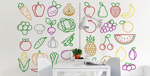 Fototapeta z warzywami do jadalni