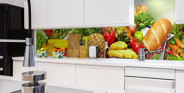 Fototapeta z warzywami i owocami