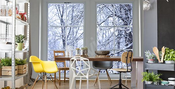 Fototapeta z zimowym pejzażem