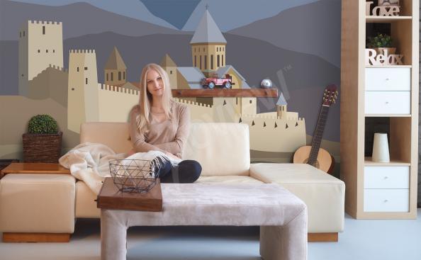 Fototapeta zamek do pokoju dziecięcego