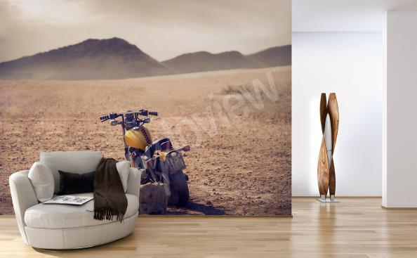 Fototapeta ze stylowym motocyklem