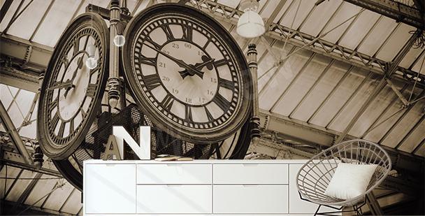 Fototapeta zegar na dworcu