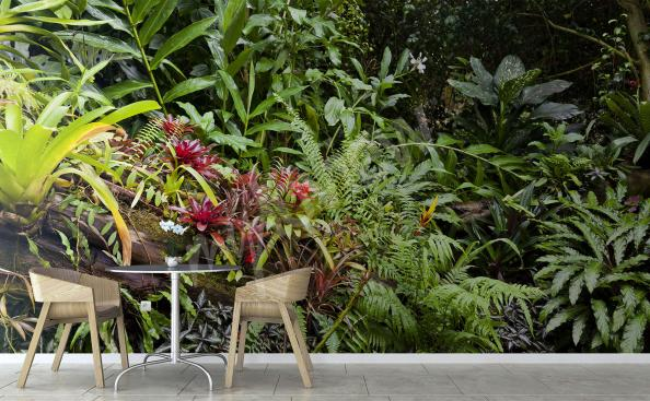 Fototapeta zielona dżungla 3D