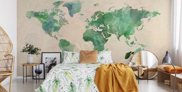 Fototapeta zielone kontynenty