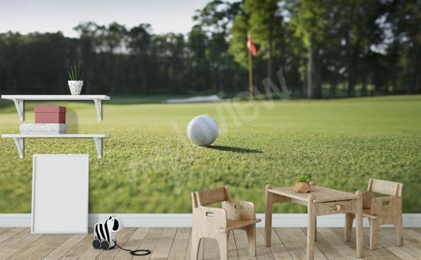Fototapeta zielone pole golfowe