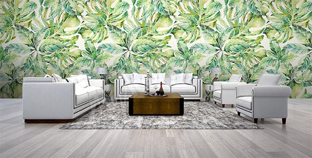 Fototapeta zielony motyw do salonu