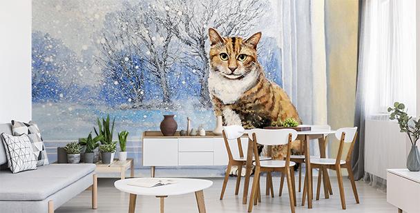 Fototapeta zabawne koty