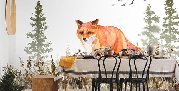 Fototapeta zwierzę malowane akwarelą