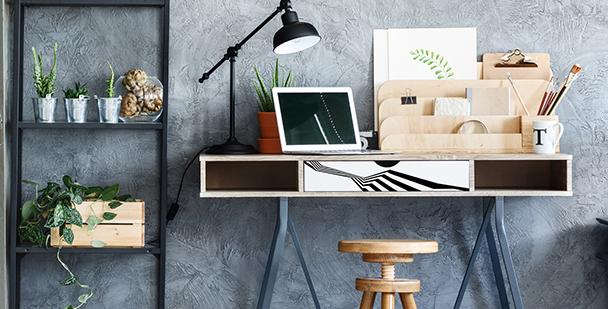 Geometryczna naklejka na biurko