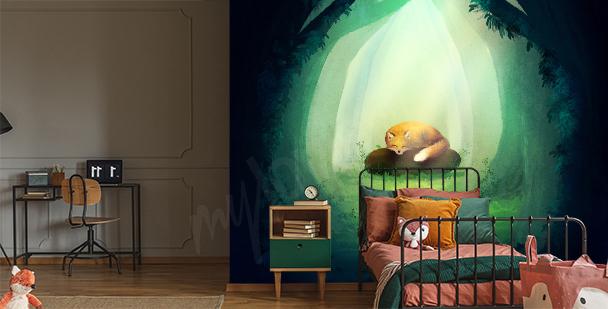 Graficzna fototapeta do pokoju dziecka