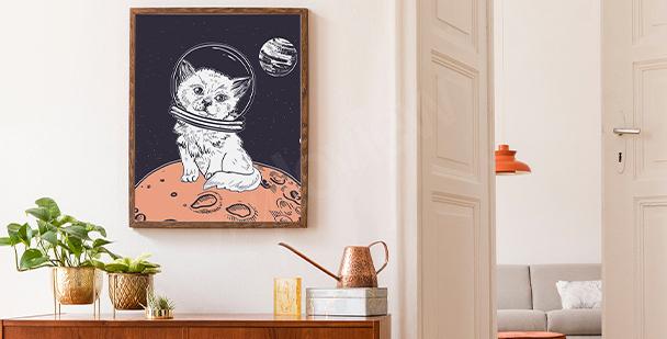 Graficzny plakat kosmos