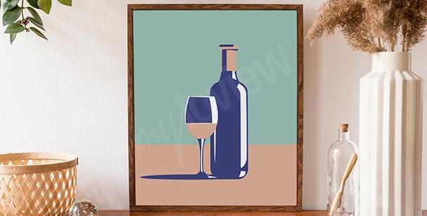 Graficzny plakat wino