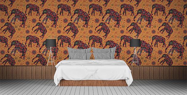 Tapeta słonie indyjskie