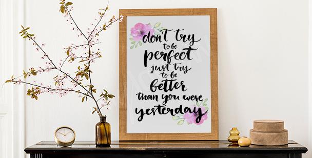 Inspirujący plakat motywacyjny