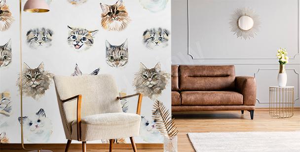 Fototapeta minimalistyczny kot