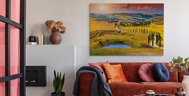 Obraz z widokiem Toskanii