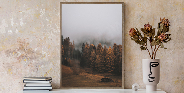 Jesienny plakat natura