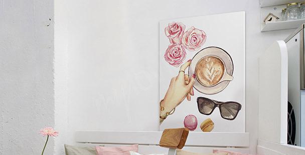 Obraz z kawą abstrakcja