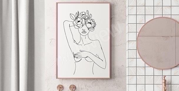 Kobiecy plakat do łazienki