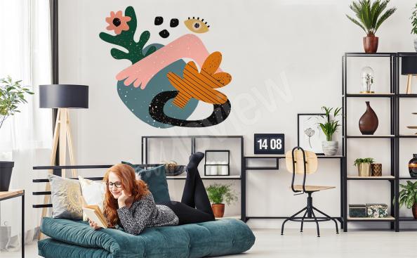 Kolorowa naklejka abstrakcja do salonu