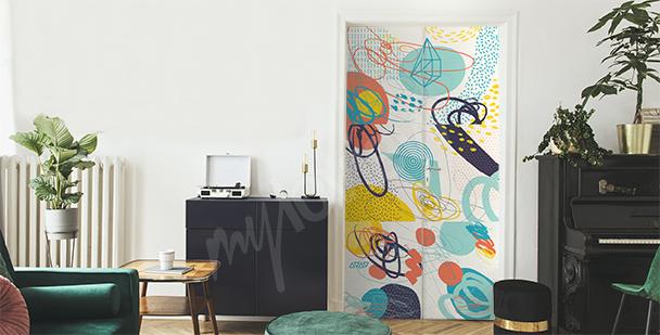 Kolorowa naklejka abstrakcyjna