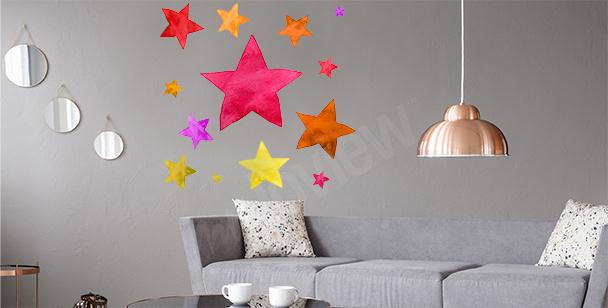 Kolorowa naklejka gwiazdy
