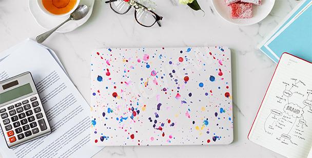 Naklejka na laptopa minimalizm