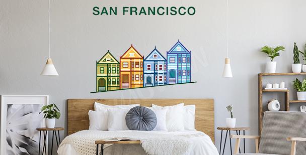 Kolorowa naklejka San Francisco