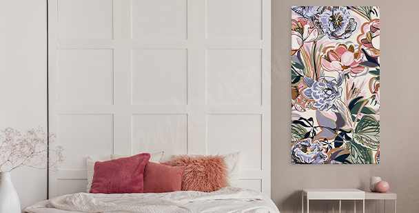 Kolorowy obraz floral style